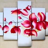 harga Lukisan Minimalis Set Bunga Anggrek P5-11 Tokopedia.com