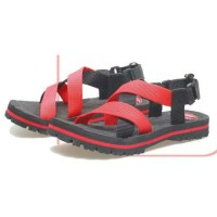 sandal gunung anak pria murah/sandal anak hiking distro bsm soga merah