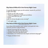 SPECIAL Olay Natural White Rich all in One Fairness Night Cream - 50gr