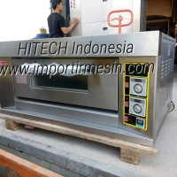 Gas Deck Oven Full Stainless 1 Deck 2 Trays ARF-20H Oven Roti 1 Deck