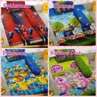 Sprei Dluxe Kintakun No.3 Spiderman, Thomas, Pokemon, Rainbow Dash
