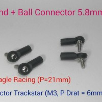 Ball End + Ball Connector 5.8mm buat Lower Upper Arm KPI Knuckle