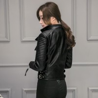 Hott 2016 style korean leather pu jaket kulit wanita 15