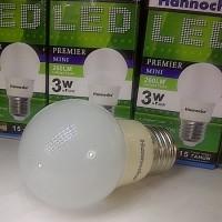 Lampu LED Hannochs 3 watt / 3w 260 lumens 3watt putih / murah garans