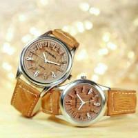 paket dapat 2 jam tangan vintage retro watch merk fossil branded mewah