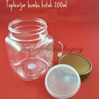 Toples/jar/botol sambal/bumbu plastik kotak 200ml