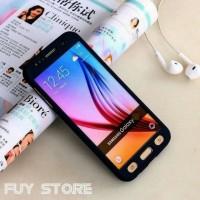 Casing Samsung J7 2016 J710 / Case Full 360 Protection Tempered Glass