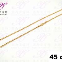 Kalung emas Rantai biji lada Perhiasan imitasi Gold 18k Yaxiya 267