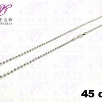 Kalung emas putih Rantai biji lada Perhiasan imitasi 18k Yaxiya 266