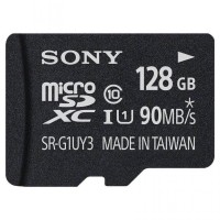Sony Micro SD HC/XC 128GB UHS-I Class 10 (90MB/s) with SD Card Adapter