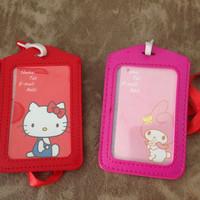 Jual name luggage bag tag id string name card holder hello kitty Murah