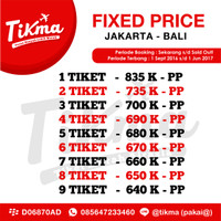 Tiket Airasia Jakarta Bali PP 700 K
