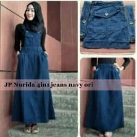 Set Nurida 3in1 Rok Kodok Maxidress Jeans Setelan Wanita Hijab A043