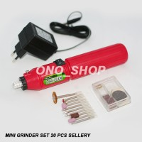 Rechargeable 3.6V Mini Drill / Bor / Grinder 20 Pcs Set S Jaminan Mutu