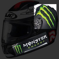 Sticker Helm Monster Energy