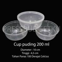 Jual cup puding / wadah puding / gelas puding 200 ml + tutup Murah