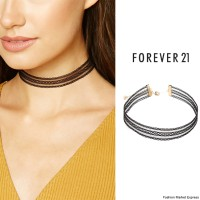 Forever 21 Crochet Choker Necklace