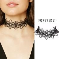 Forever 21 Choker Flower Crochet Necklace