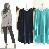 jesslyn blouse tunik baju mode high low baju hijab terkini terbaru