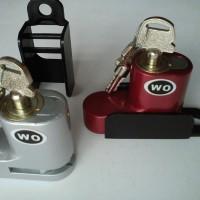 Kunci Gembok Pengaman Anti Maling Disc Cakram Motor bahan Baja Kuat