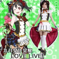 BAJU FASHION KOSTUM ANIME COSPLAY COSTUME LOVE LIVE NICO YAZAWA IMPORT