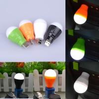 Jual Emergency Bohlam Mini USB LED Bulb BALL LIGHT lampu Powerbank Senter Murah