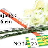 Batang Kawat bunga no 24 36cm bahan craft lengkap flower crown