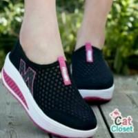 Sepatu Kets Wanita Murah High Heels Casual Sneakers Wedges Cewek Boot