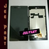 Lcd Sony C6802 Xperia Z Ultra Complete Touchscreen ORI + Frame Hitam