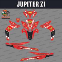 Sticker striping motor stiker Yamaha Jupiter Z1 Moviestar Merah Spec A