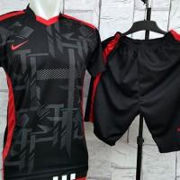 harga Baju Setelan Nike BlackWork Merah Kaos Futsal,Gym,Volly Olahraga Tokopedia.com