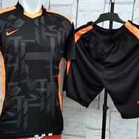 harga Baju Setelan Nike BlackWork Orange Kaos Futsal,Gym,Volly Olahraga Tokopedia.com