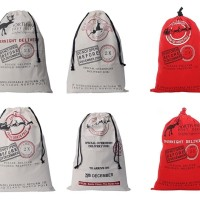 Christmas Gift Canvas Drawstring Bag / Santa Sack Bag
