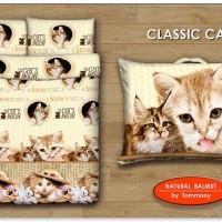 Jual BALMUT BANTAL SELIMUT MOTIF CLASSIC CAT GRATIS SARUNG BANTAL Murah