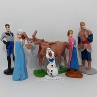 Cake Topper Frozen Toper Kue Figure Elsa Anna Hiasan Cake