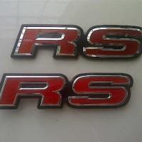 Emblem RS Red JDM Style Honda Ori For Logo Jazz/Civic/Brio