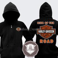 Harga hoodie zipper harley davidson king of the road   Hargalu.com