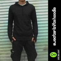 SWEATER KNITE HOODIE / GREENLIGHT FINGER BLACK / GRLT RAJUT ARIEL1