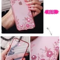 Jual Casing Silicon Soft Case Iphone 7/ 7plus/ 7+ Flower Bling Diamond Murah
