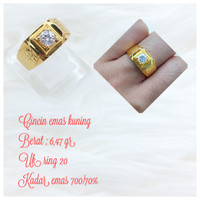 cincin emas kuning