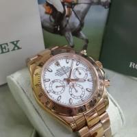 Jam Tangan Rolex Oyster Perpetual Cosmograph Daytona Rose Gold White