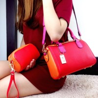 Harga tas coach speedy top handle set merah orange semi premium | antitipu.com
