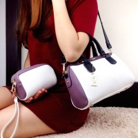 Harga tas coach speedy top handle set cream ungu semi premium | antitipu.com
