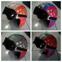 Helm Anak Retro Kacamata Classic Pororo Bogo Semi Kulit