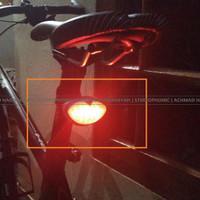 Lampu Sepeda Belakang   5 Led Bicycle Rear Light   Rear Lamp ZH1108  