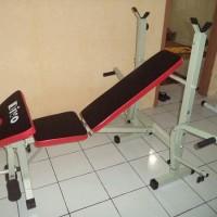 Alat Fitness Angkat Beban Bench Press + Butterfly