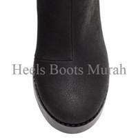 Promo Diskon WOW H&M Platform Boots (Platform depan 2.5 cm, Heels 11cm