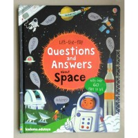 Usborne Lift the flap Question and Answers About Space,Buku Import