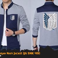 Jual Cardigan Attack on Titan JA SNK 49 Navy Jaket Anime Biru Murah