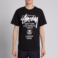 Tshirt / Kaos / Baju STUSSY WORD TOUR - Jersey Outfit - Jersey Outfit